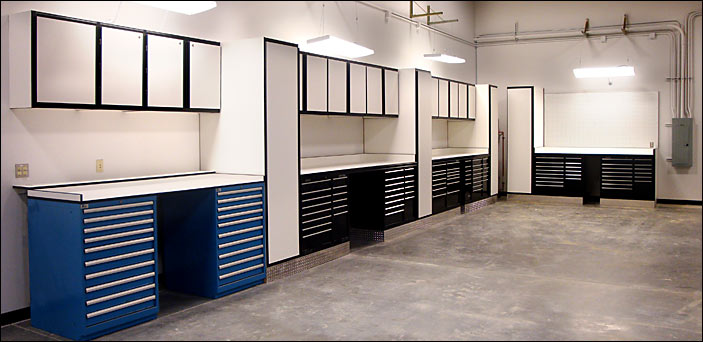 Our cabinets designed around clients existing tool boxes.